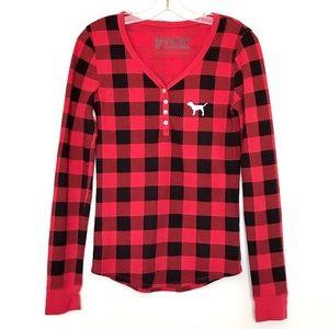 PINK Thermal Pajama Top